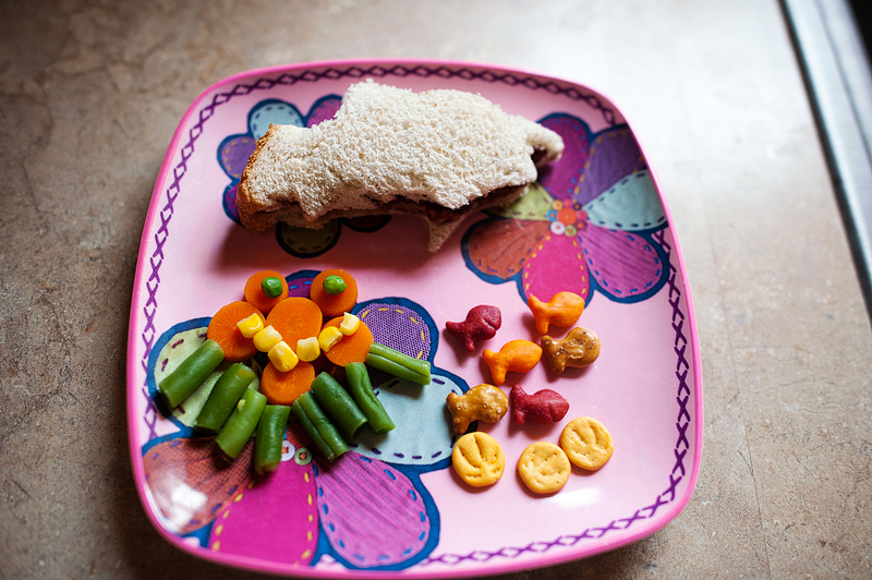 Under the sea themed lunch for kids