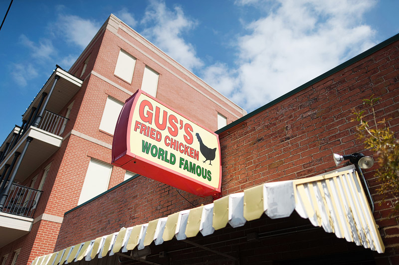 Gus World Famous Fried Chicken restaurant in Memphis, Tennessee.