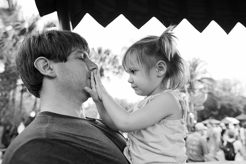 Father and daughter at Disney World.