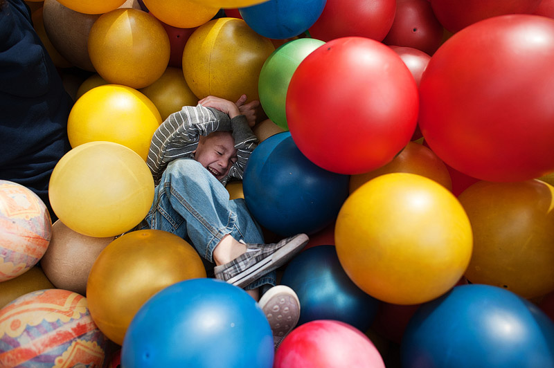 Boy buried in balls St. Louis Missouri.