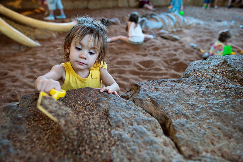 Playing in the sand at Animal Kingdom in Orlando.