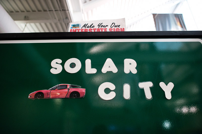 Solar City sign we made at the National Corvette museum.