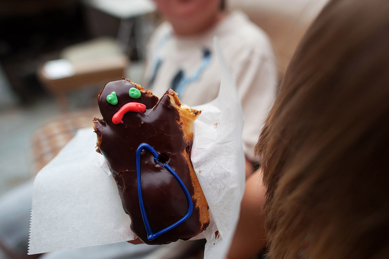 Voodoo doll jelly filled donut.