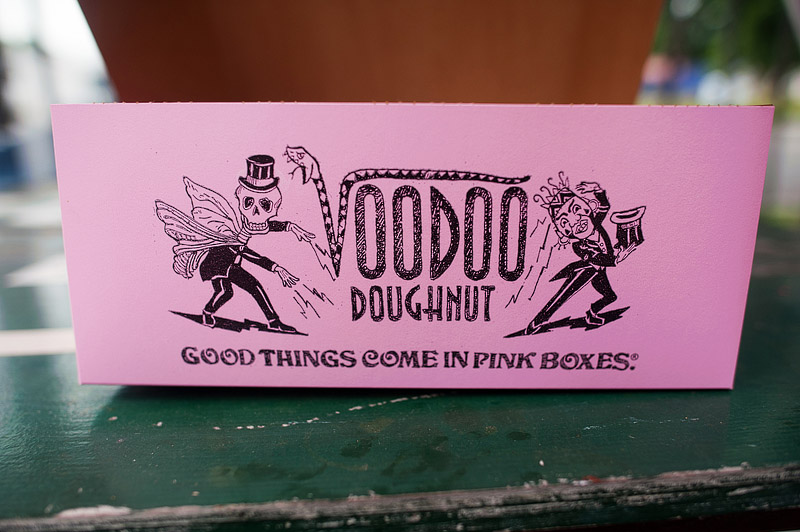 Voodoo donuts good things come in pink boxes.