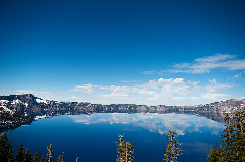 Gorgeous shot of Crater Lake in Oregon.
