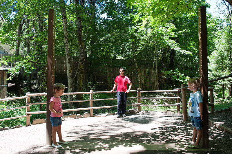 Kids at the Oregon Vortex.