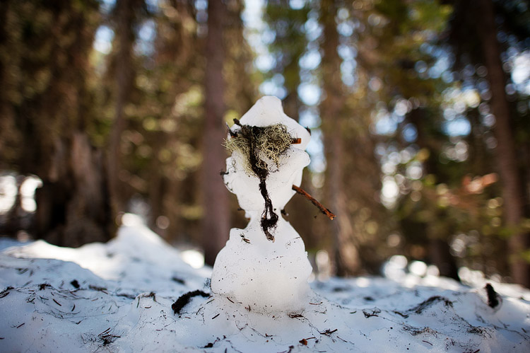 Snowman in Banff National Park.