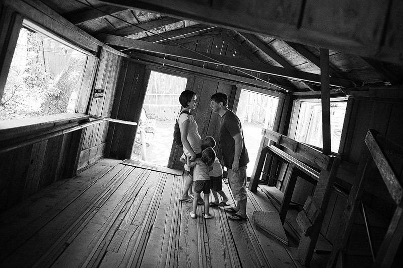 Family picture at the Oregon Vortex.