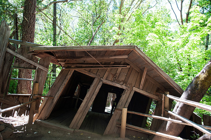 The house of Mystery at the Oregon Vortex.
