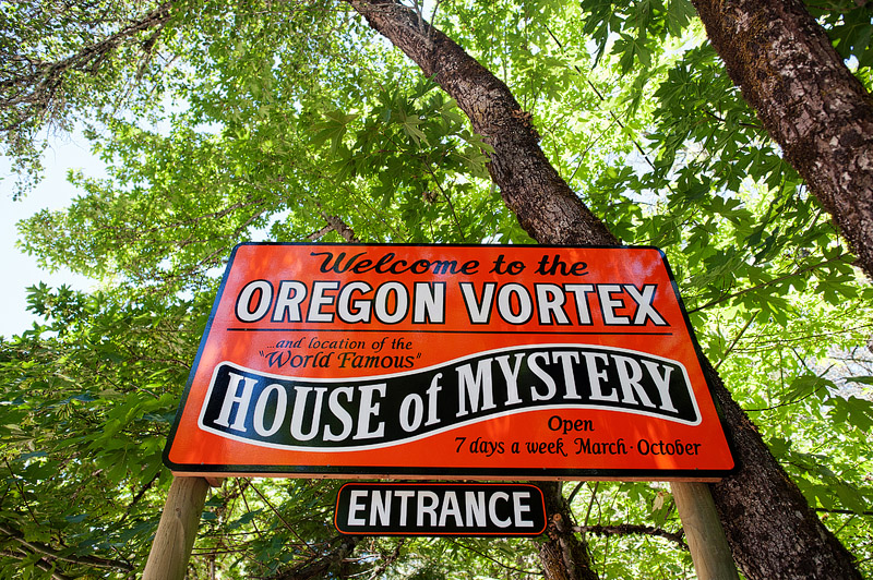 Oregon Vortex sign.