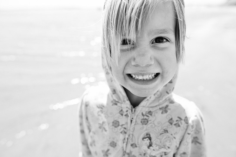 Cute girl grinning.