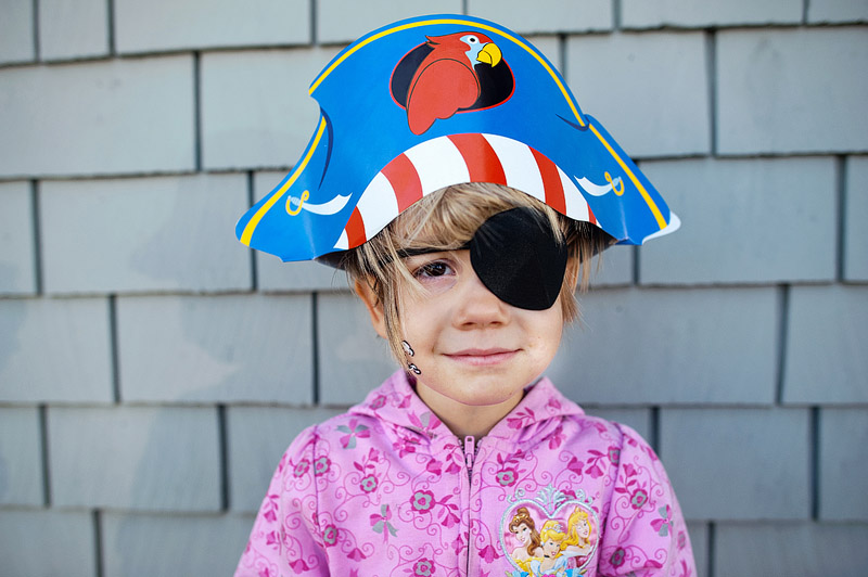 Girl dressed as pirate.