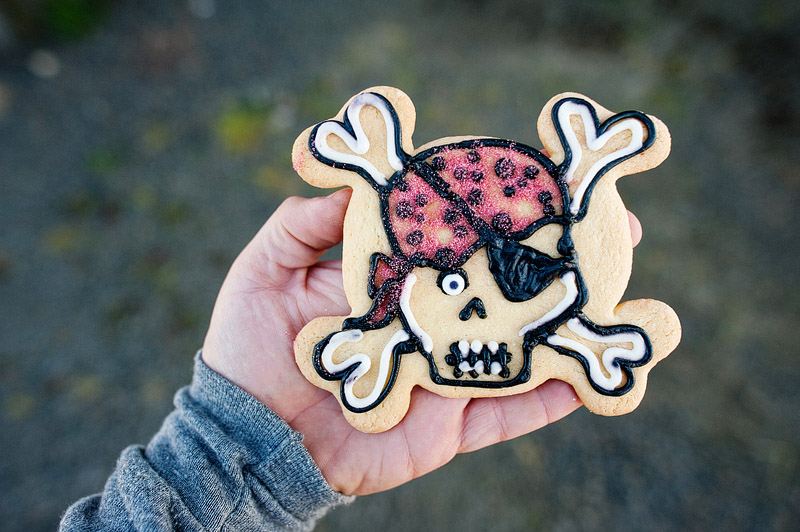 Pirate cookie from Captain Dan's in Lincoln City.