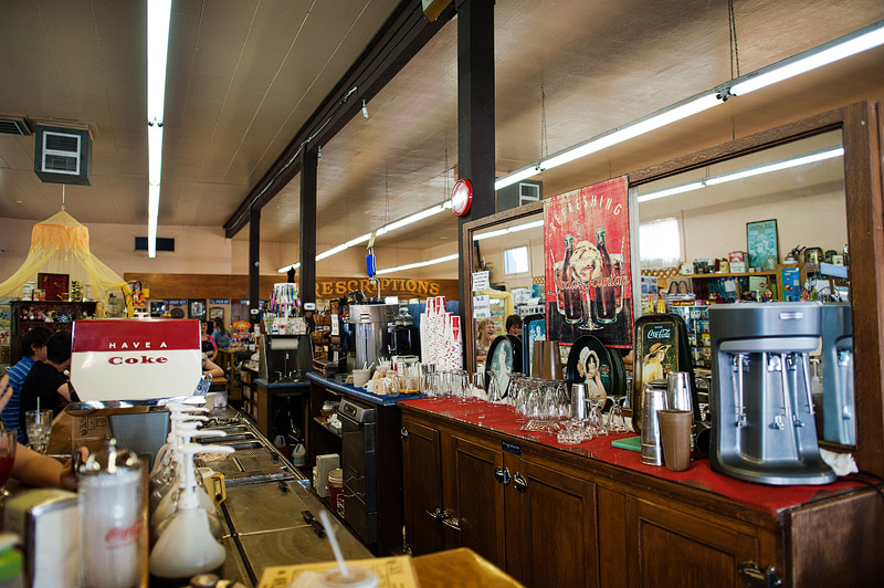 Grant's Pass Pharmacy old time soda fountain.