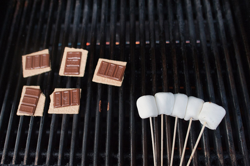 S'mores on the grill.