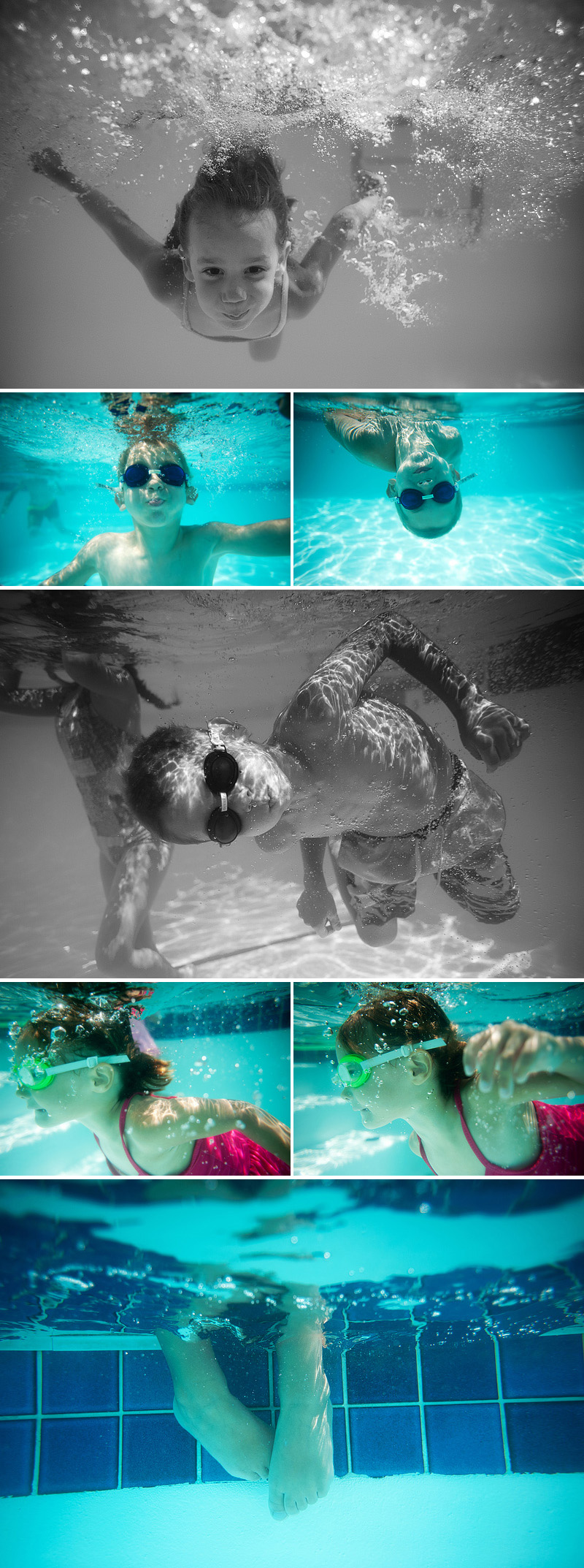 underwater photography kids in the pool