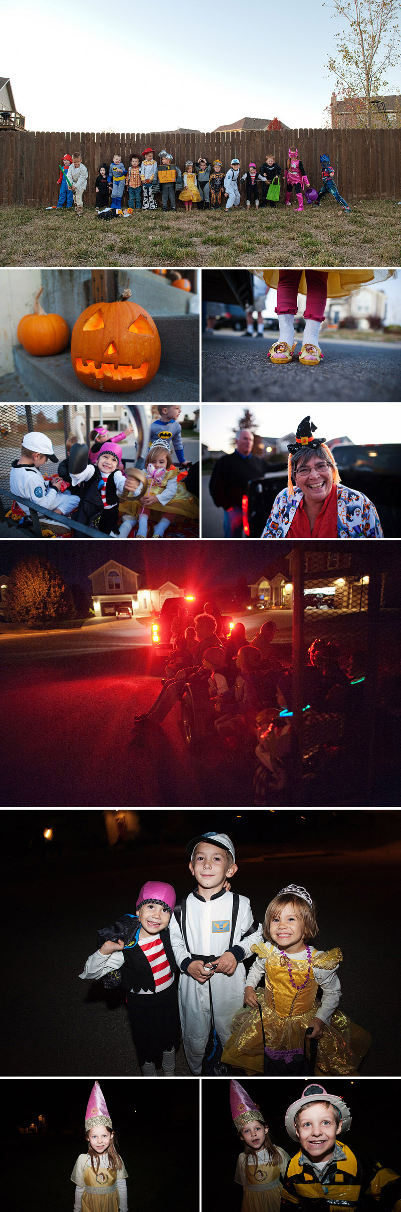trick or treating hayride