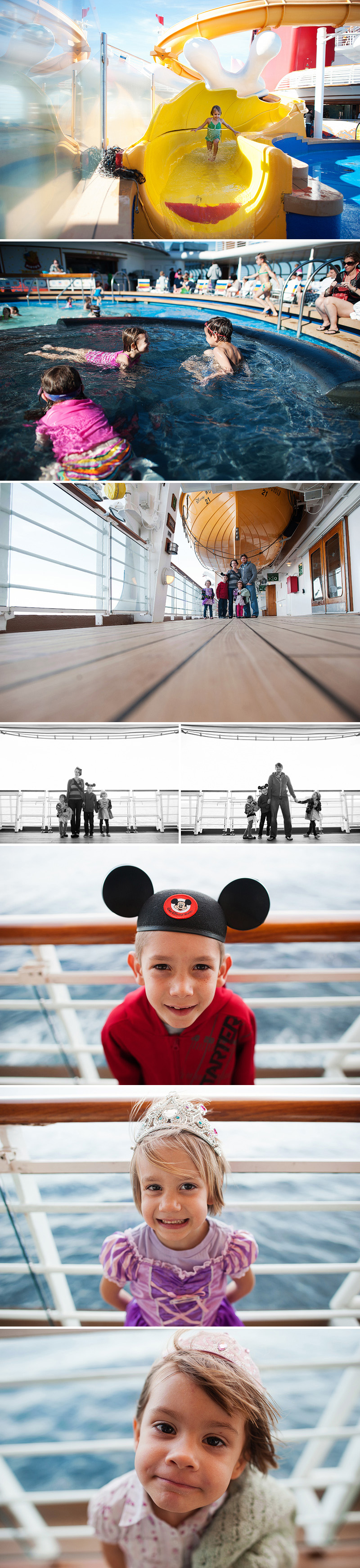 portraits on the disney wonder cruise ship