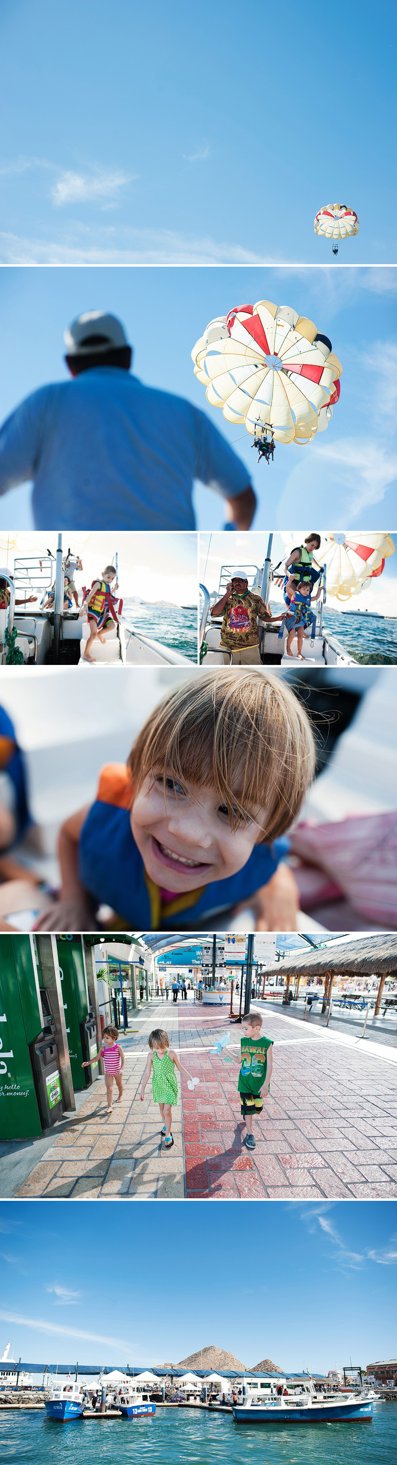 kids in mexico parasailing