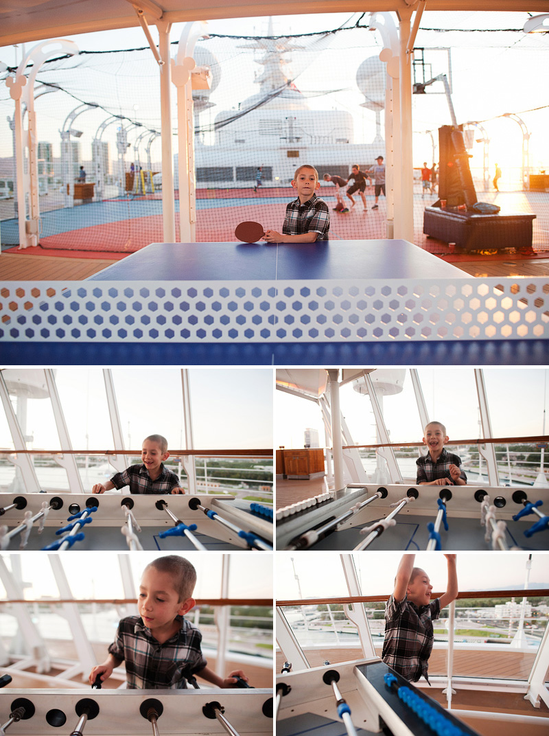 ping pong and foosball on disney cruise wonder