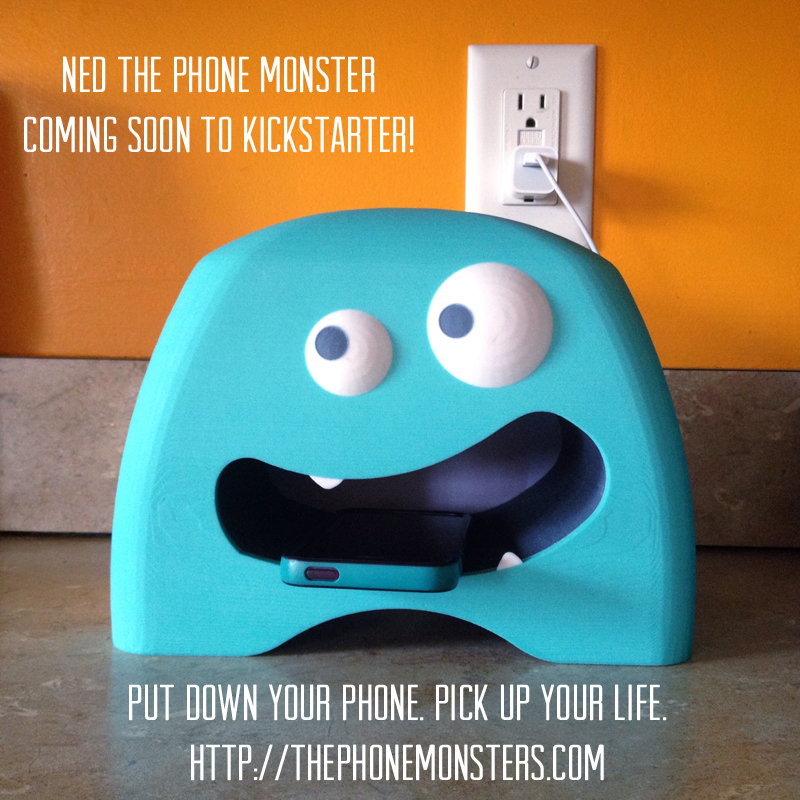 Ned the Phone Monster put down your phone pick up your life