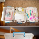 Simple Ideas for Organized Family Living – Kids Artwork Buckets