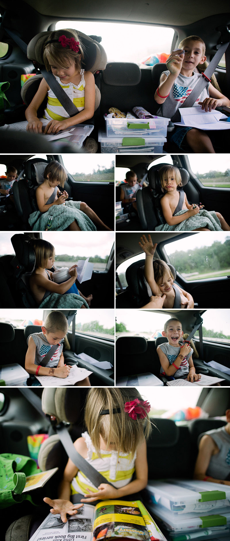 entertaining kids on a road trip
