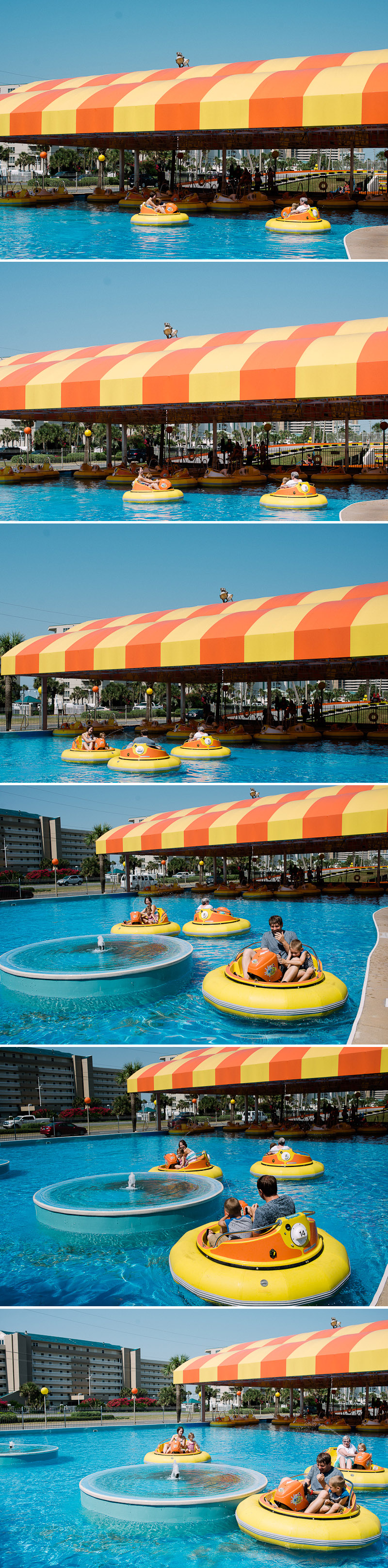 Fun bumper boat pictures.