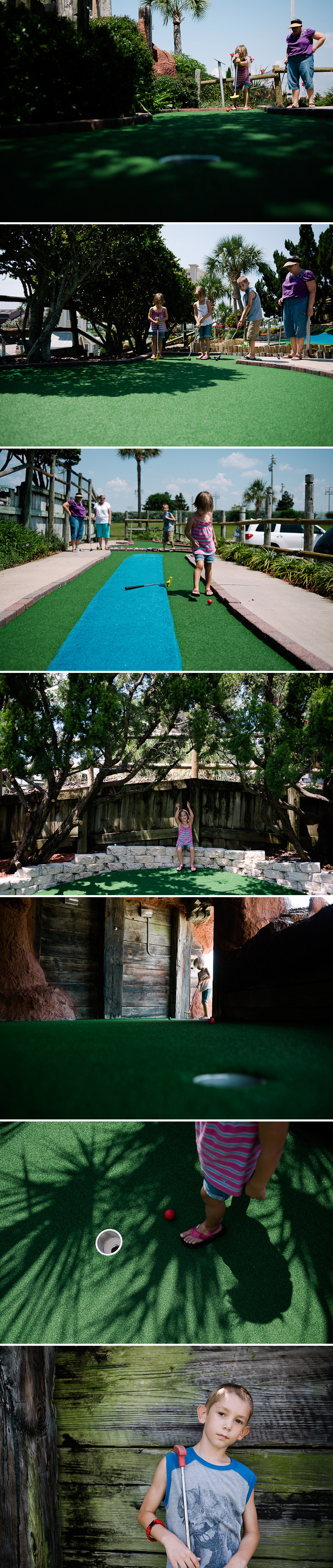 Mini golfing in Destin, Florida.