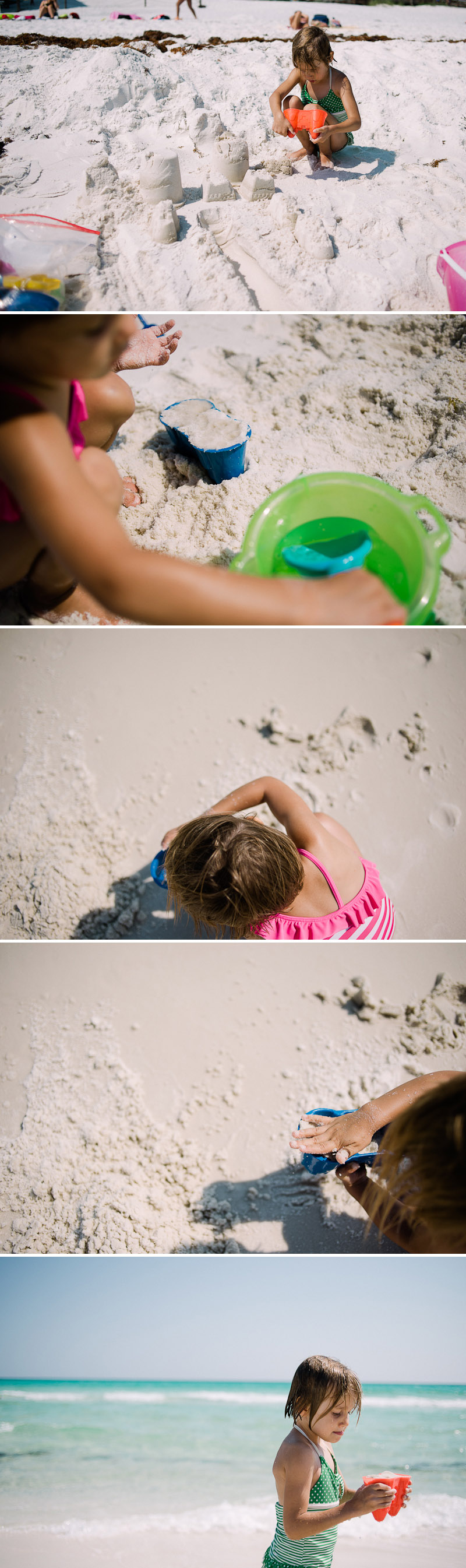 Kids playing in the sand on a Destin beach.