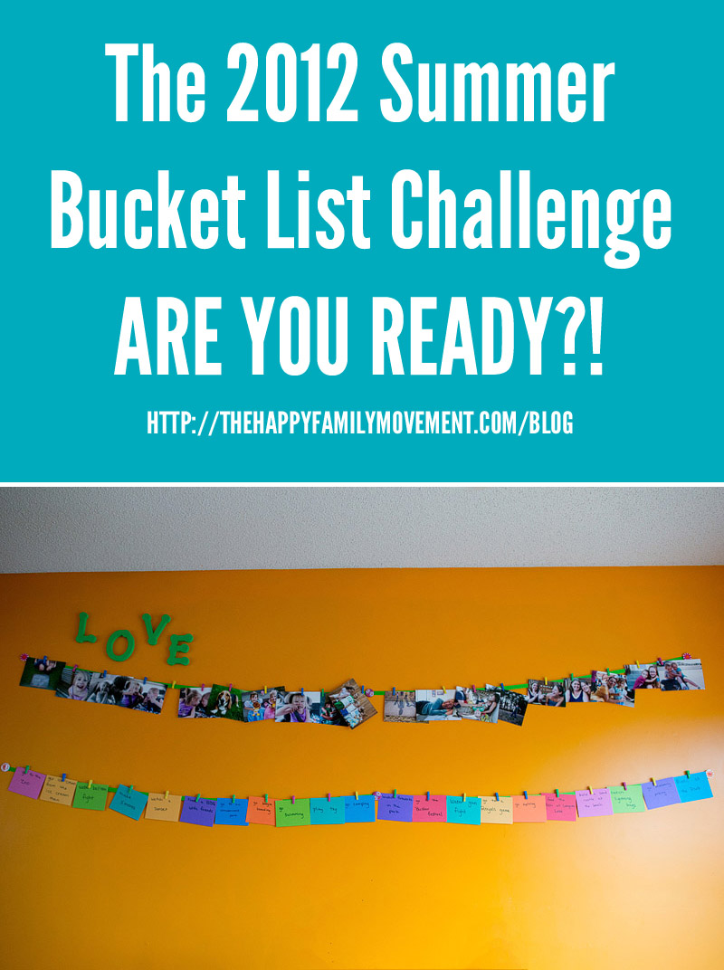 happy family movement summer bucket list challenge