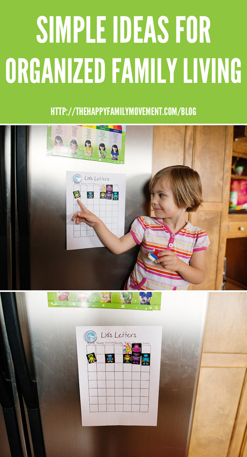 simple ideas for organized family living sticker charts
