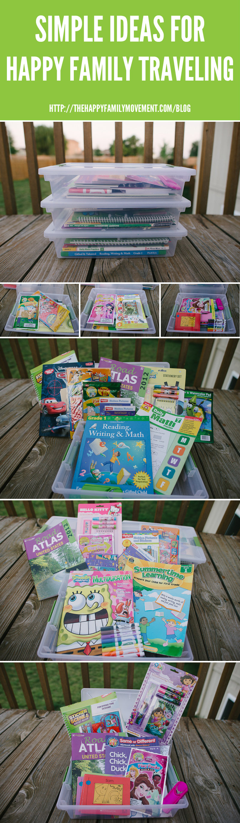 car packs for kids on road trips