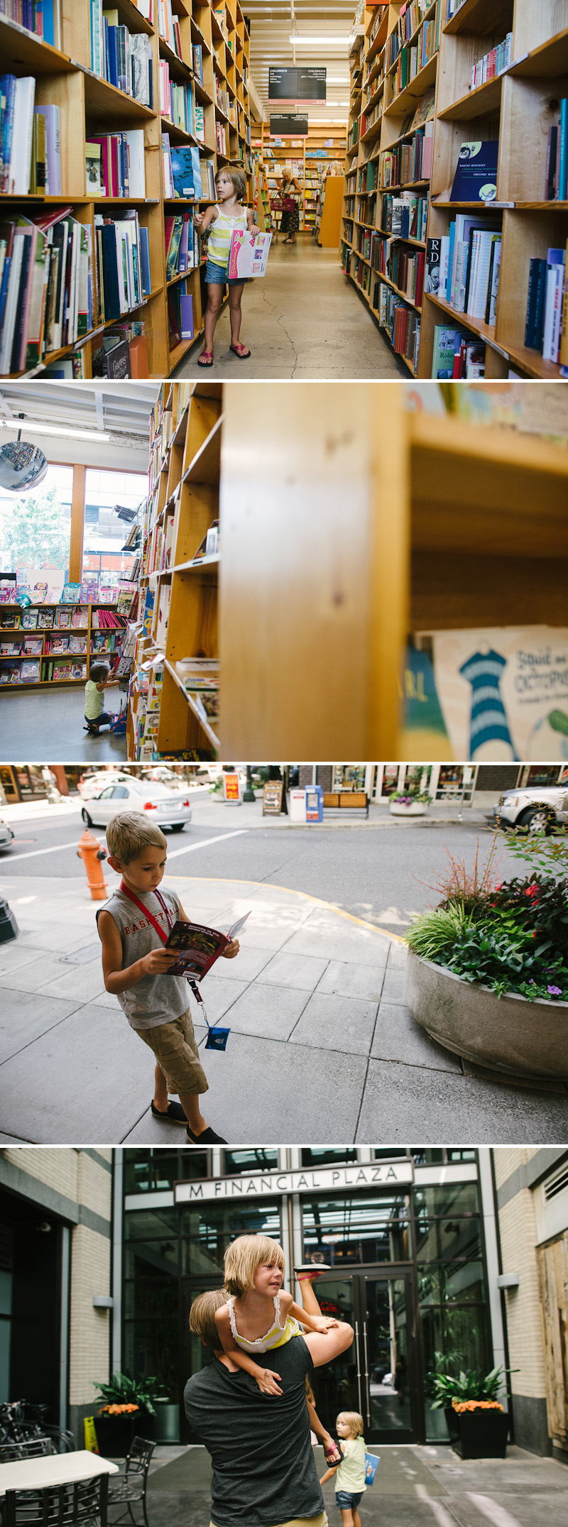 Kids at Powell's books in Portland.