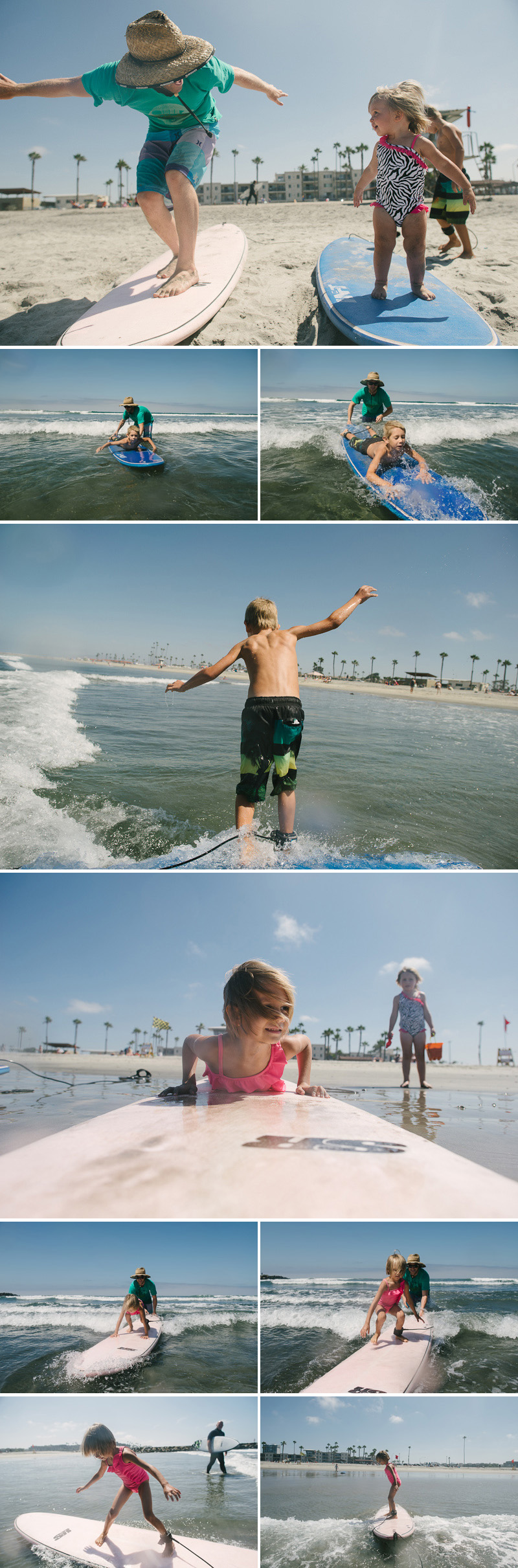 family surf trip oceanside california