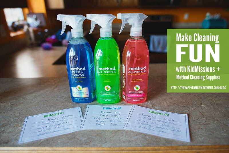 make cleaning fun for kids with KidMissions from The Happy Family Movement and Method Cleaners