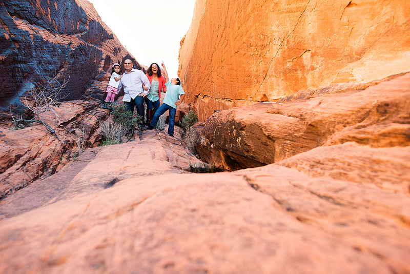 Fun family picture in Red Rock Canyon.