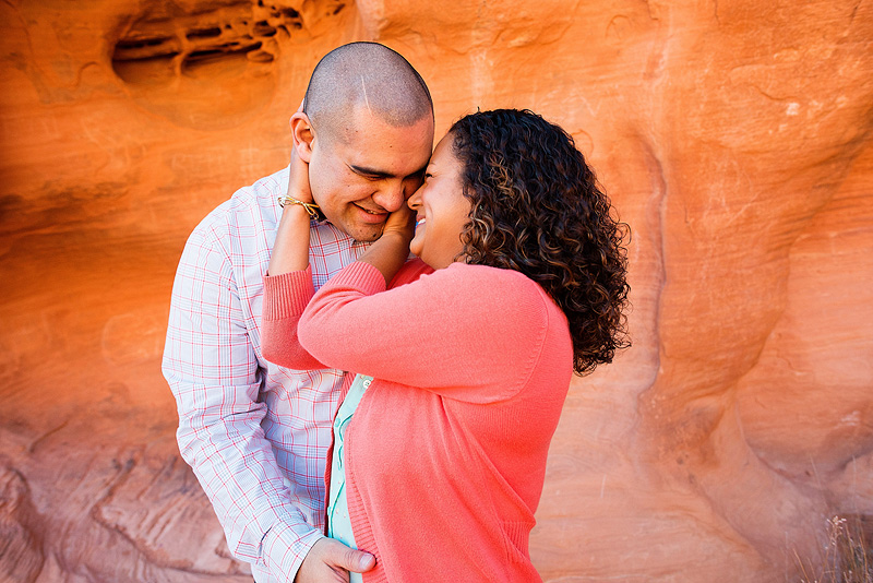 Couple in love in Red Rock Canyon, Nevada.