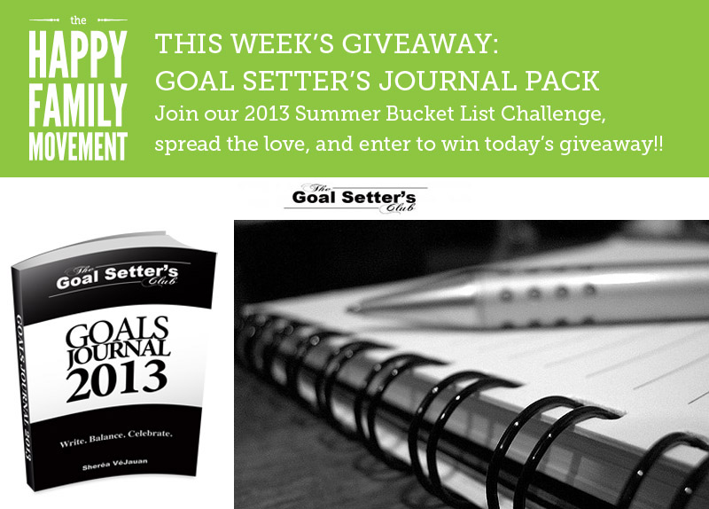 goal setters journal giveaway
