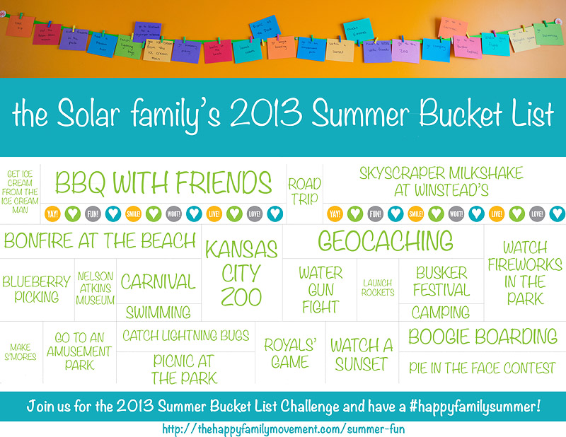 2013 Summer Bucket List Challenge - sign up today!