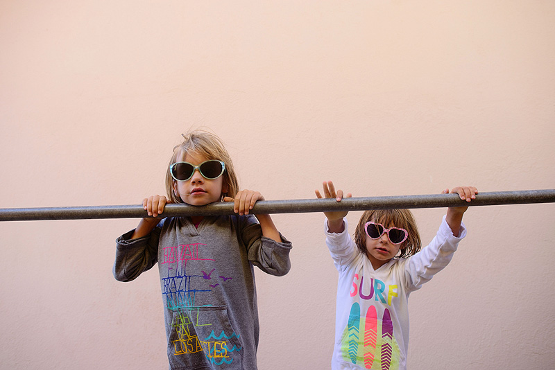 cute kids in sunglasses.