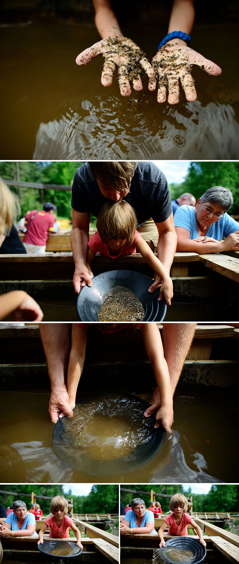 kids panning for gold in keystone sd