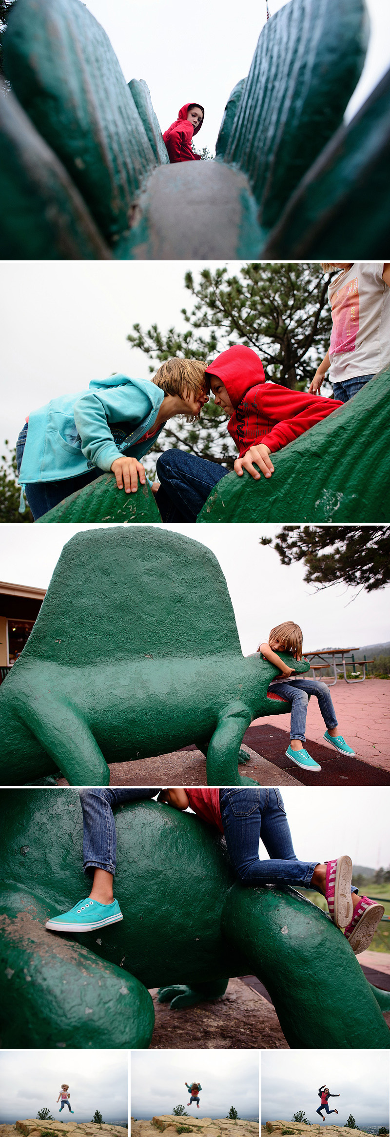 fun at the dinosaur park
