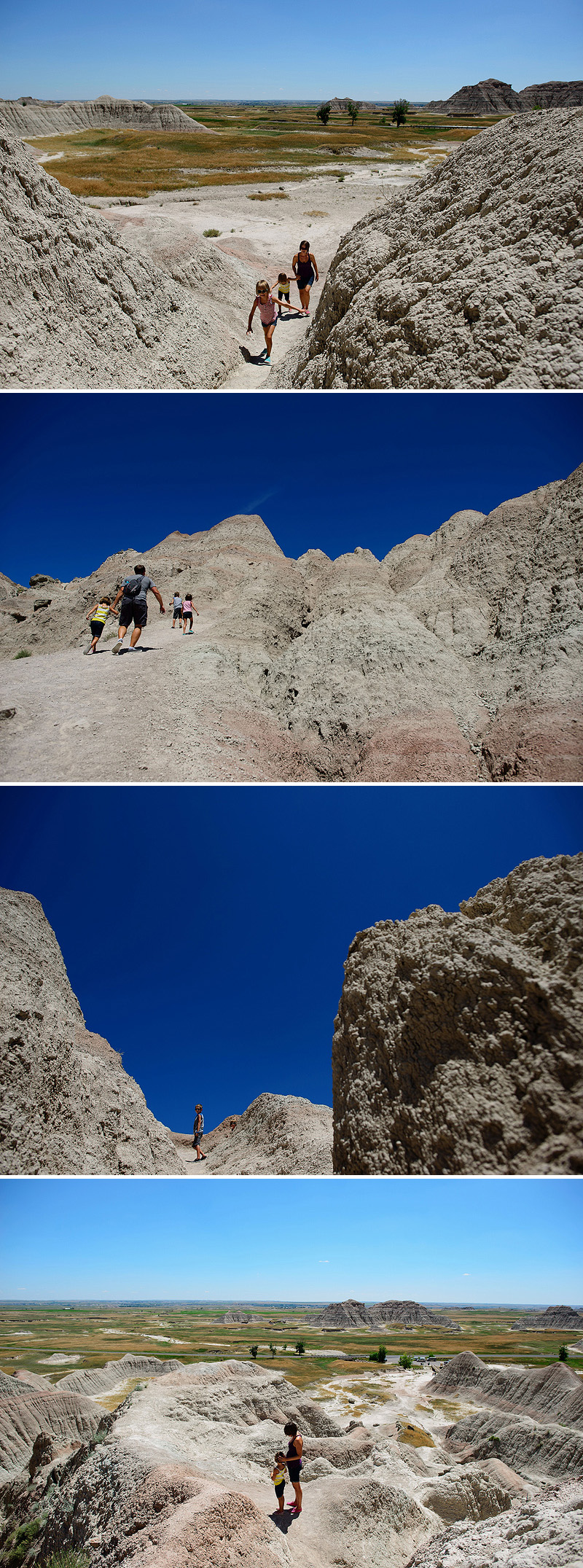 incredible scenic views on hike in badlands