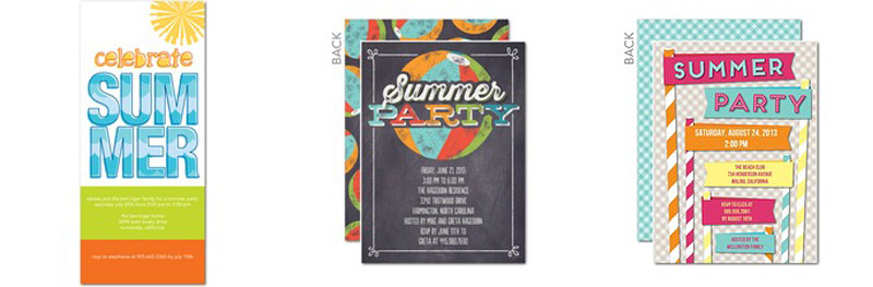 summer bucket list bbq party invites