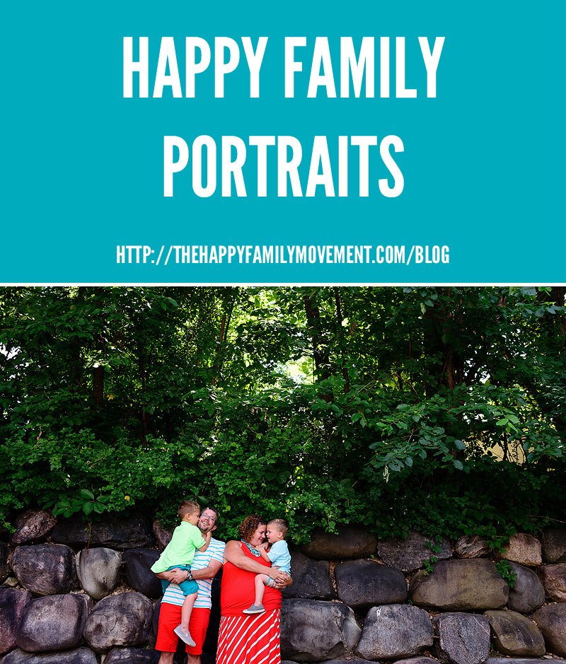 Happy family portraits by the happy family movement.