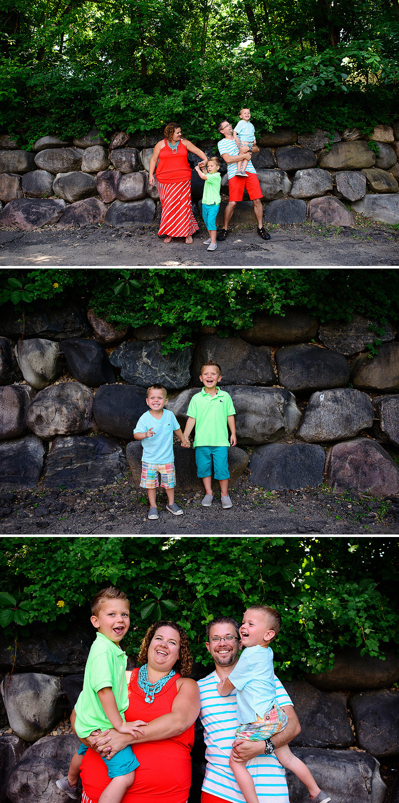 Fun family portraits by the Solars.