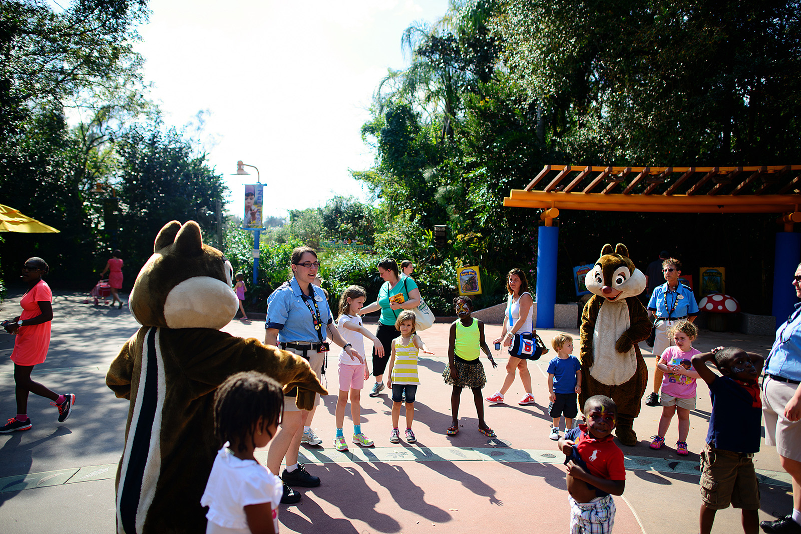 dance party and games with chip and dale