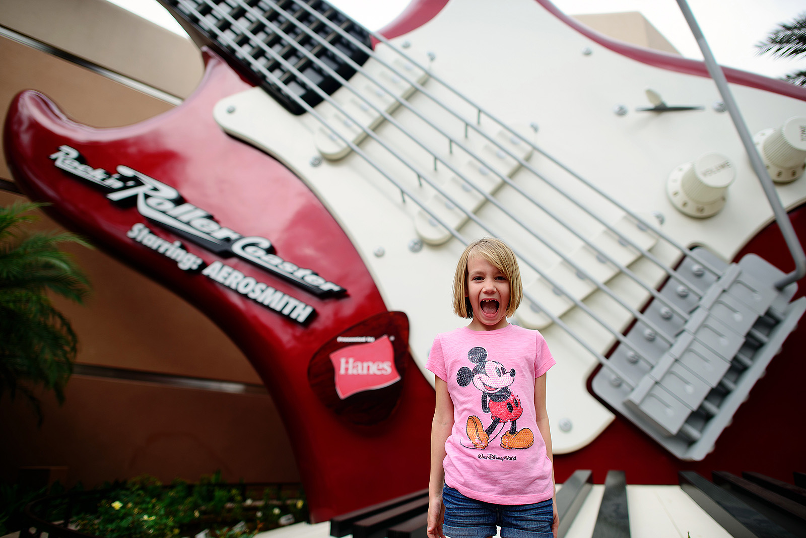 she loved the rock n roller coaster!