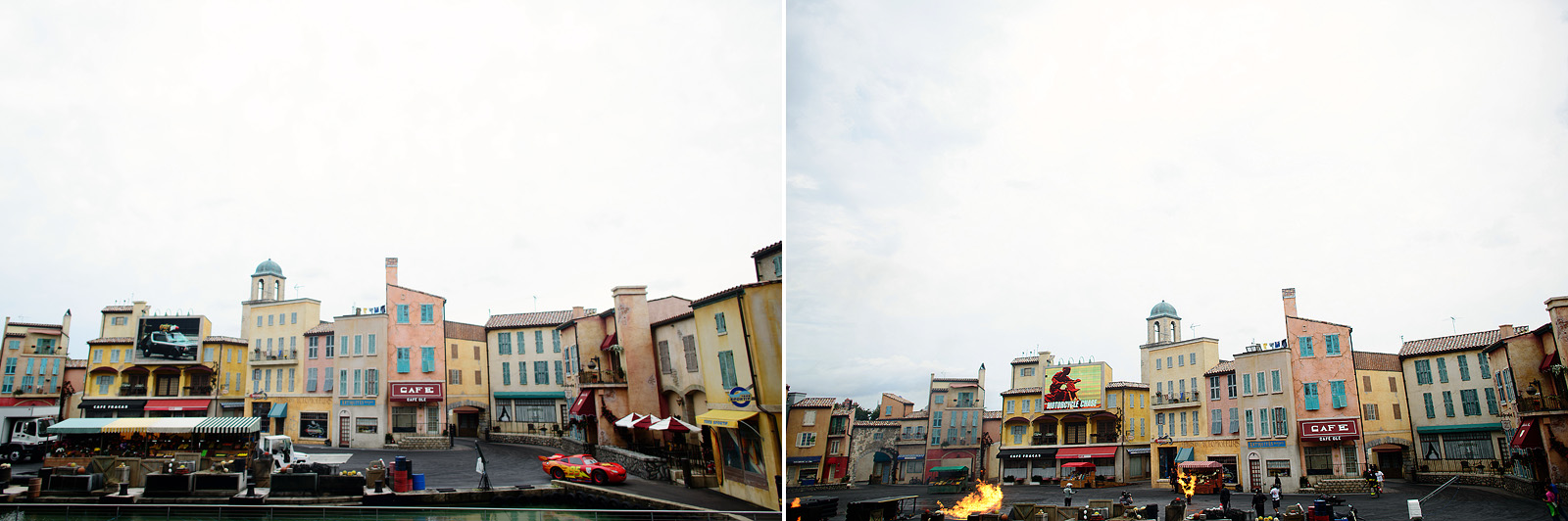 lightning mcqueen made an appearance at the stunt show hollywood studios